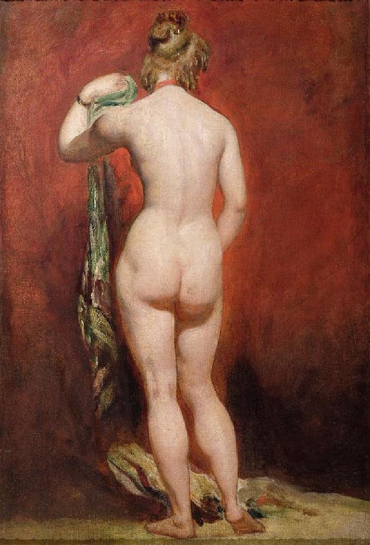 Standing Female Nude Oil Painting