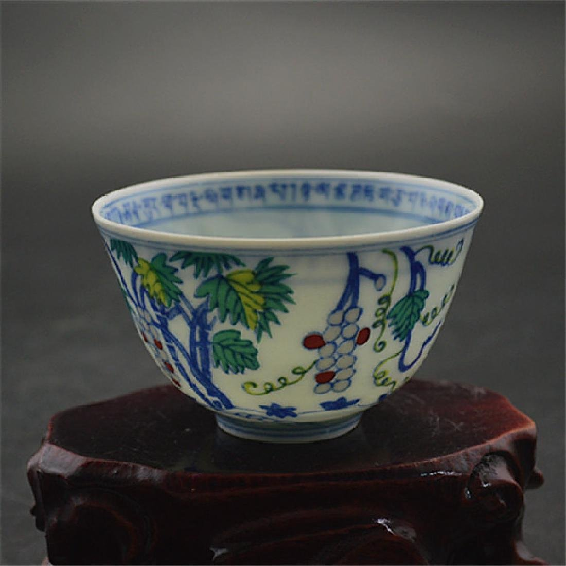 Chinese Ming Dynasty Chenghua Time Porcelain Cup With - 3