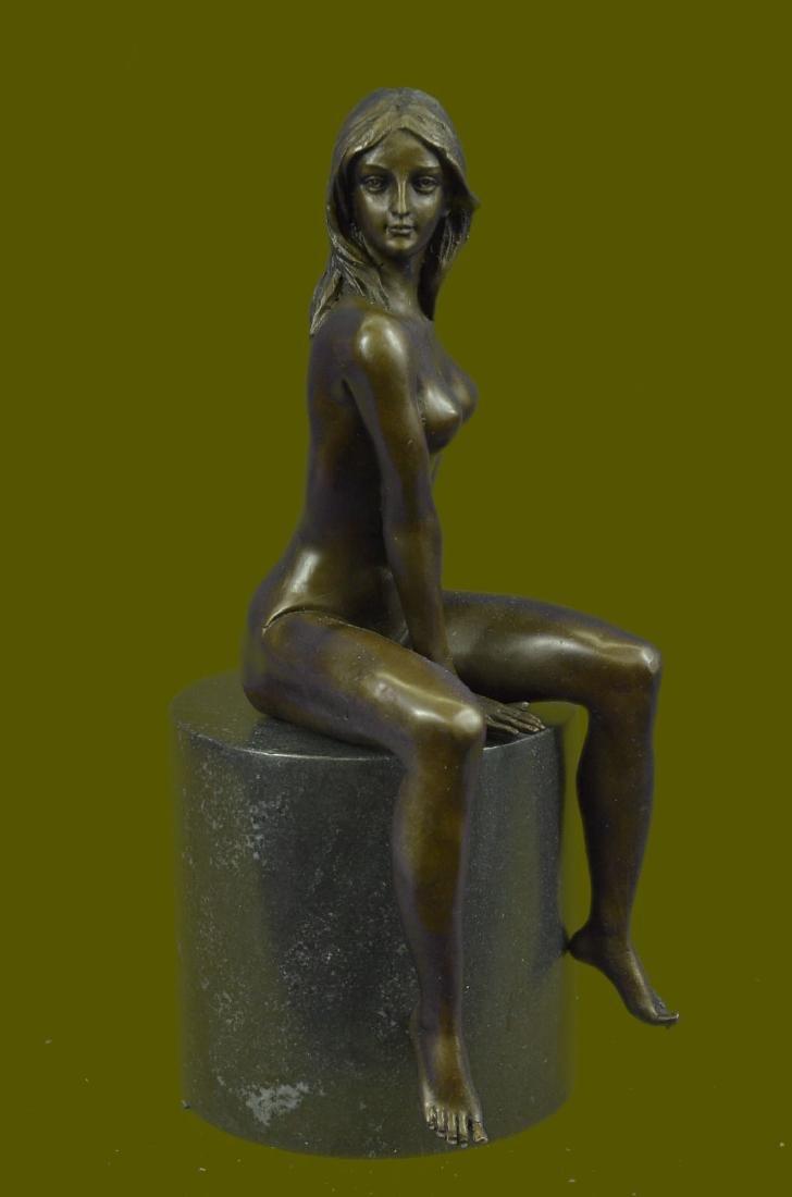 Beautiful Signed Art Nouveau Gilt Bronze Sculpture