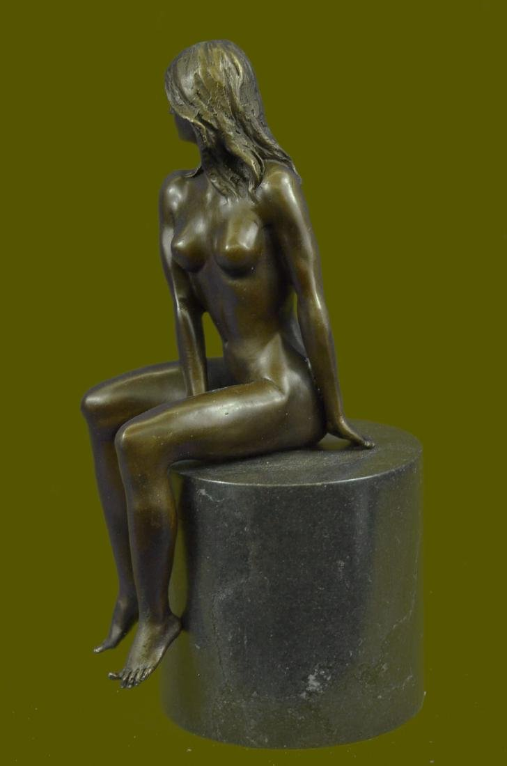 Beautiful Signed Art Nouveau Gilt Bronze Sculpture - 2