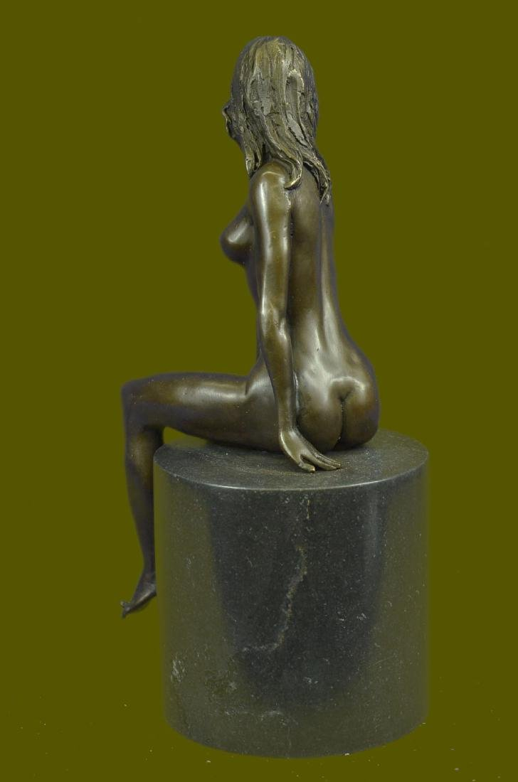 Beautiful Signed Art Nouveau Gilt Bronze Sculpture - 3