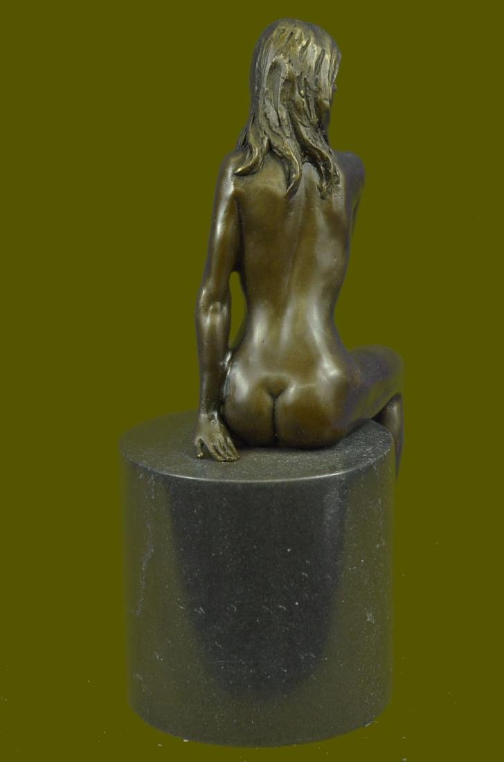 Beautiful Signed Art Nouveau Gilt Bronze Sculpture - 4