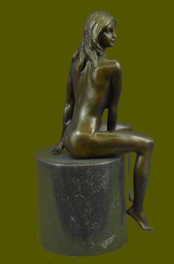 Beautiful Signed Art Nouveau Gilt Bronze Sculpture - 5
