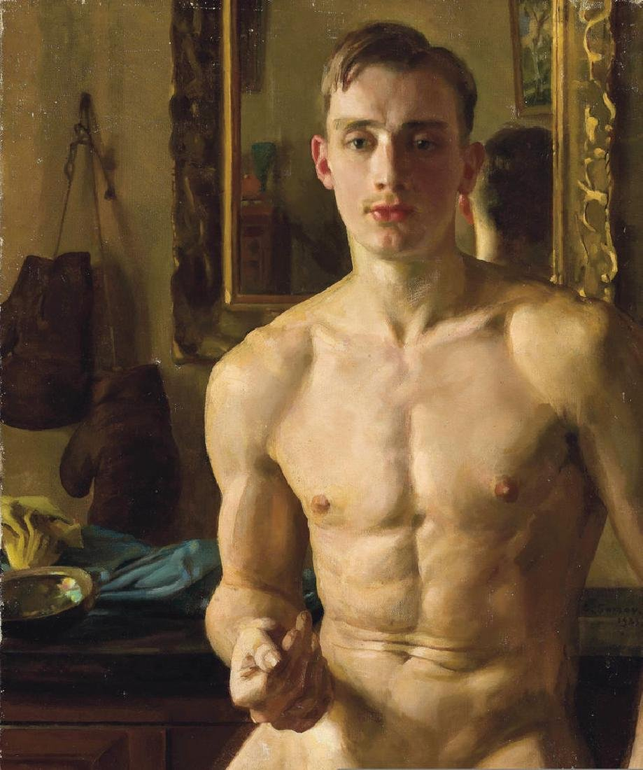NUDE NUD MAN MALE GAY ART Oil Painting ON CANVAS