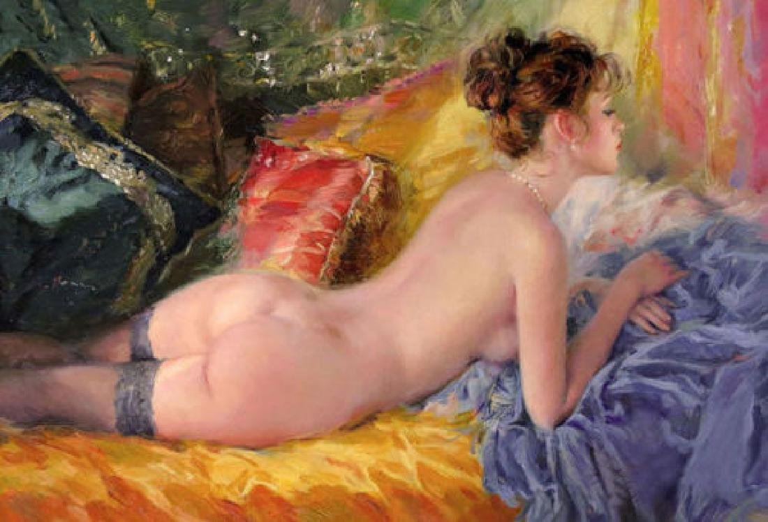 HIGH QUALITY IMPRESSIONISM OIL PAINTING ON CANVAS :
