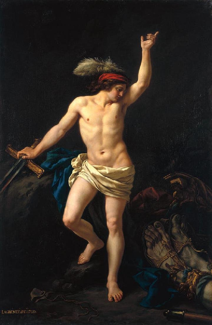 David Victorious Oil Painting on Canvas