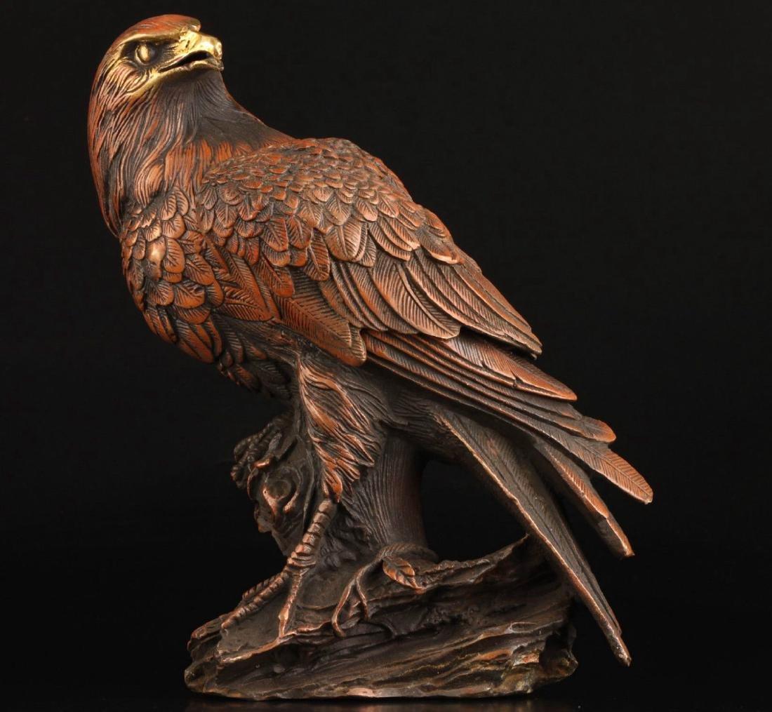 Vintage Collection Bronze Statue Lifelike Eagle Box