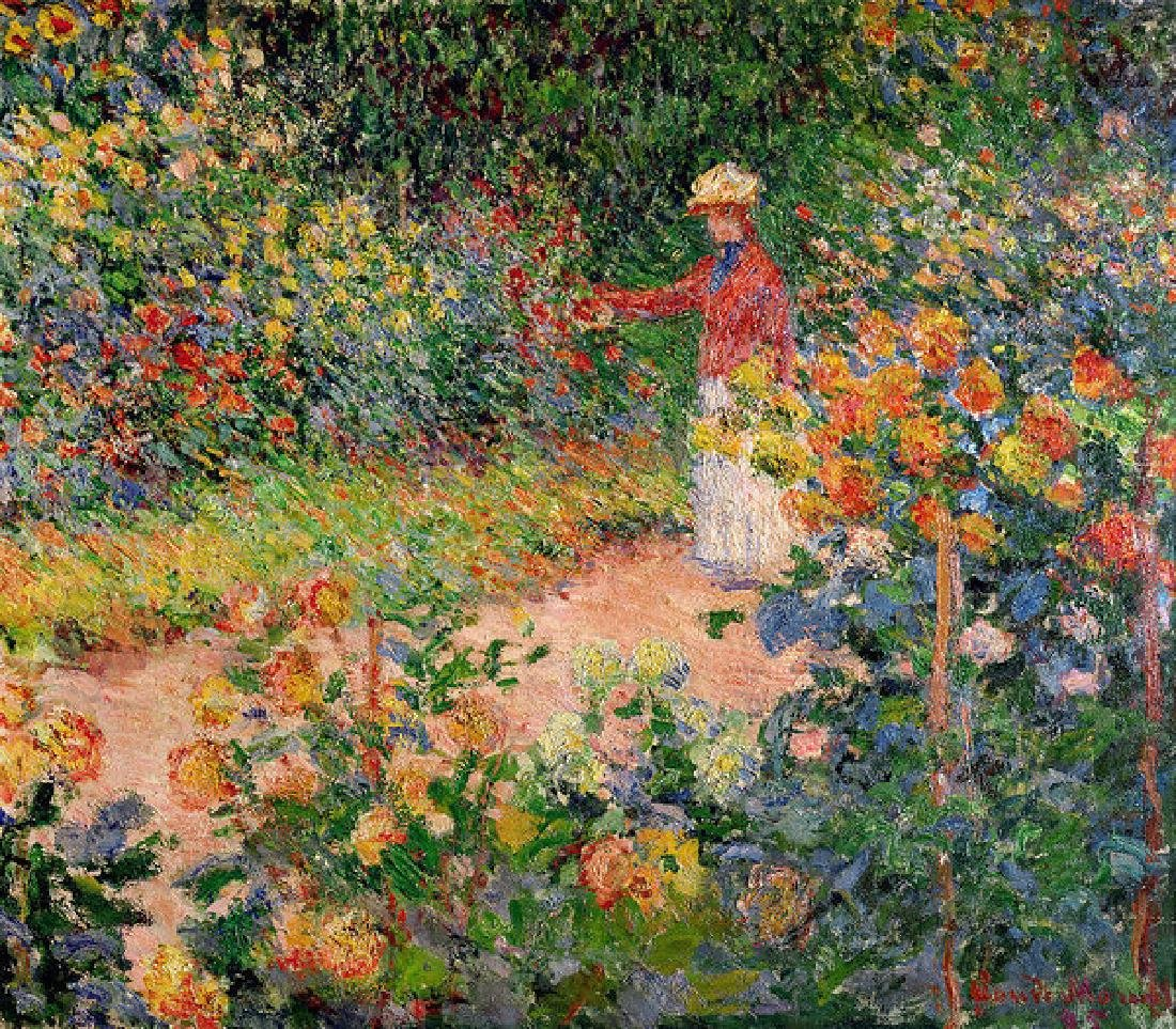 Garden At Giverny Oil Painting
