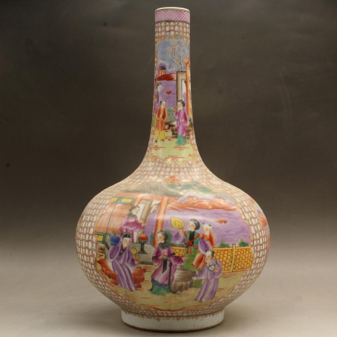 Chinese Qing Dynasty Kwon-Glazed Porcelain Bottle