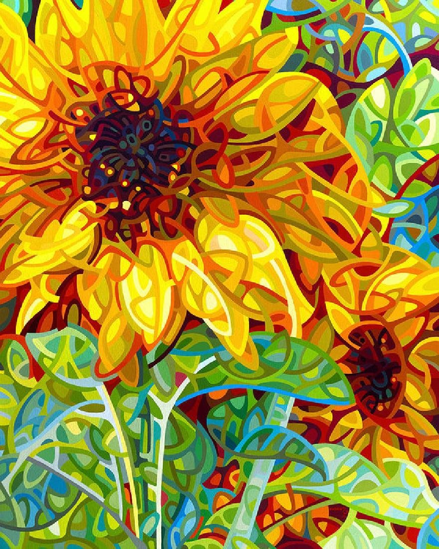Summer In The Garden Oil Painting on Canvas