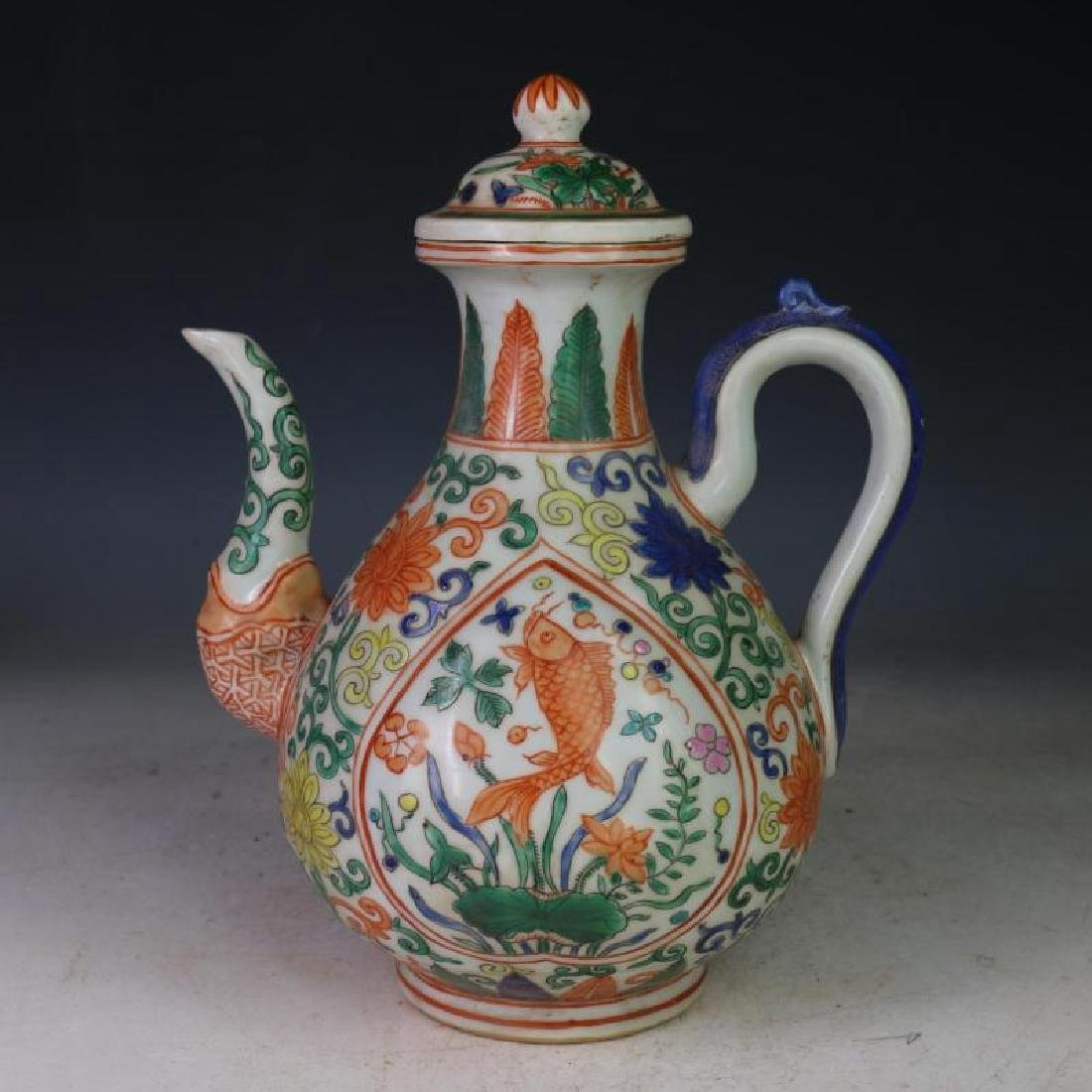 Chinese Ming Dynasty Wanli Time Porcelain Wine Pot With