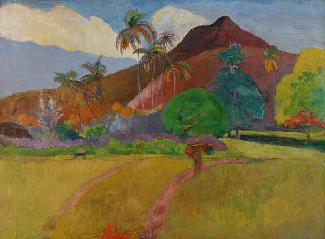Tahitian Landscape Oil Painting on Canvas