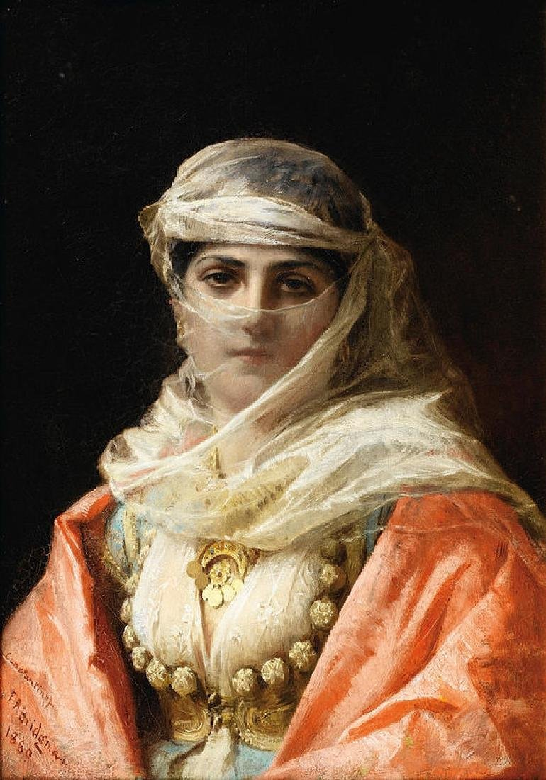 Young Woman From Constantinople Oil Painting on Canvas