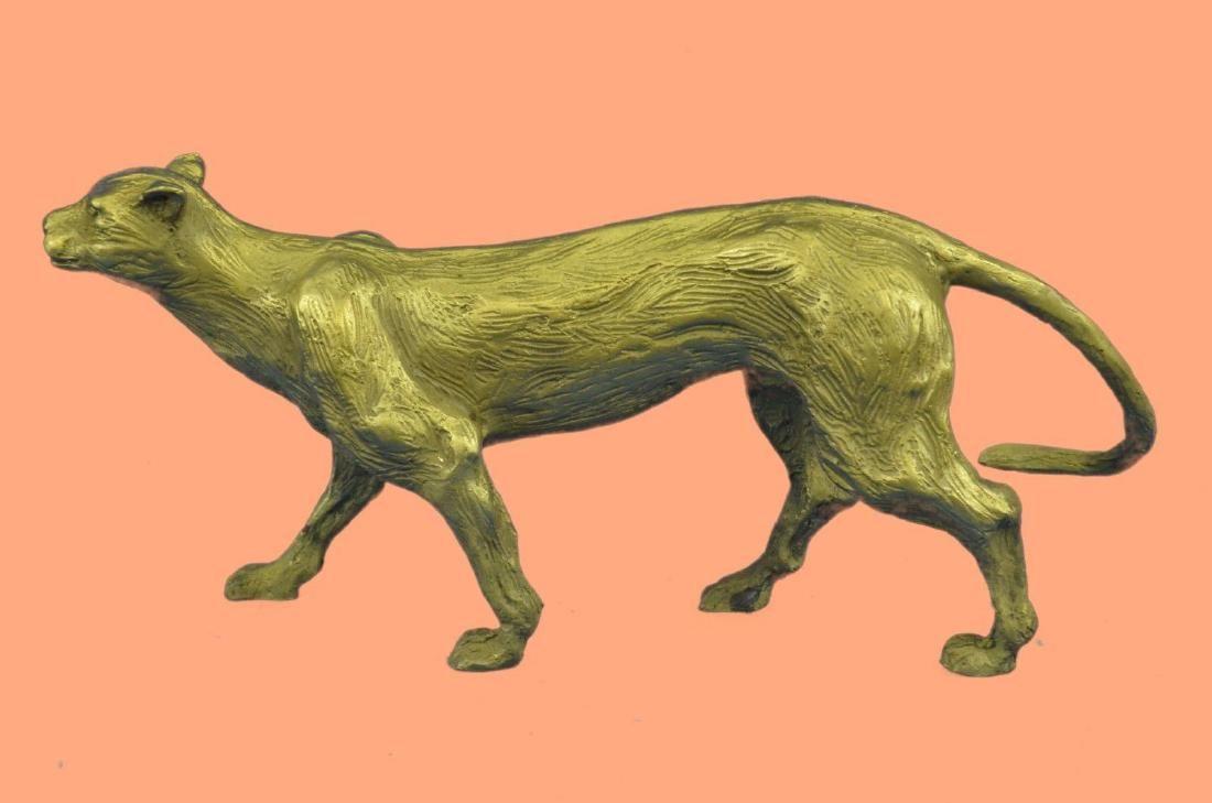 Bronze Sculpture Statue Rare Gilt Vienna Cougar