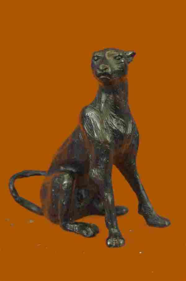 Jaguar Cougar Pair Big Cat Lover Bookend Bronze Statue