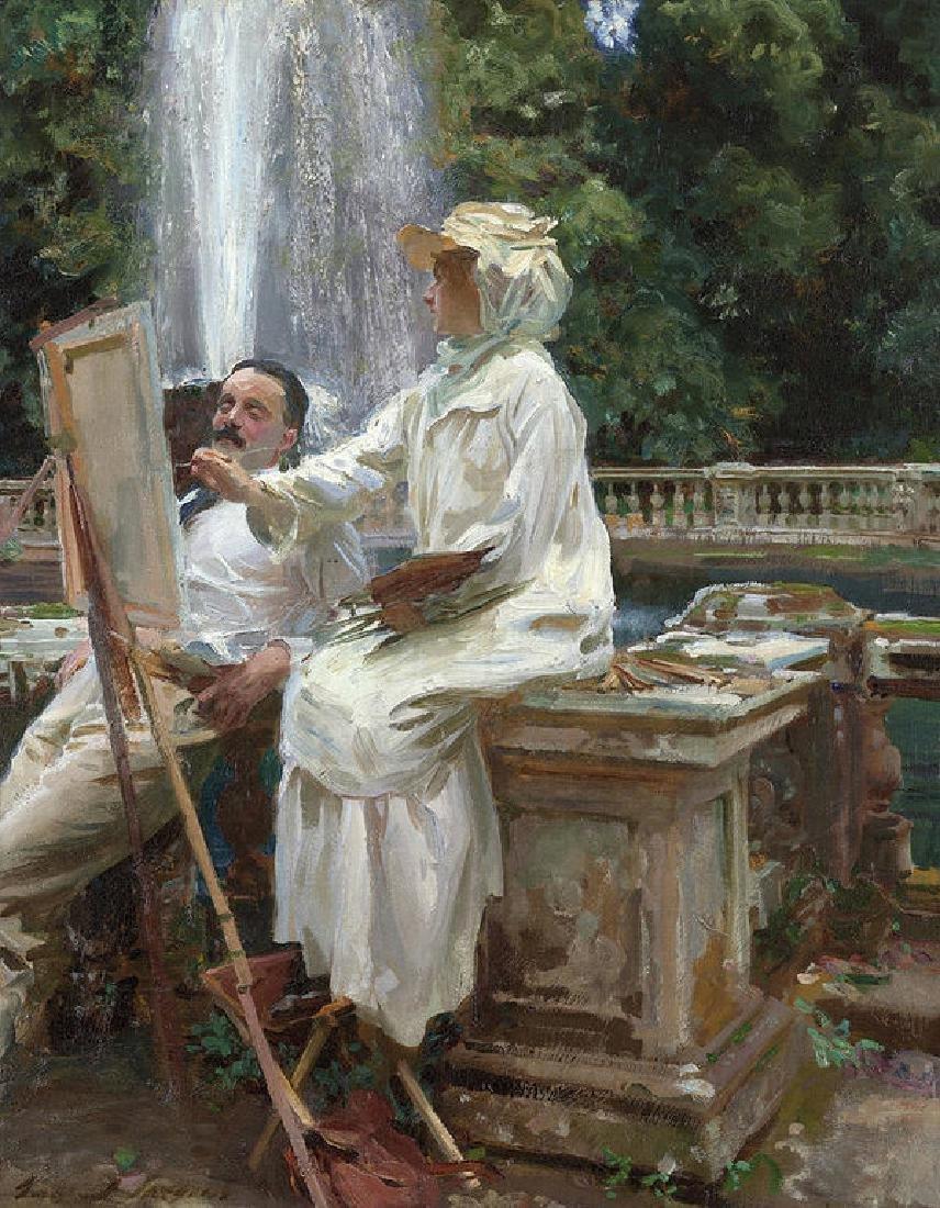 The Fountain, Villa Torlonia, Frascati, Italy Oil
