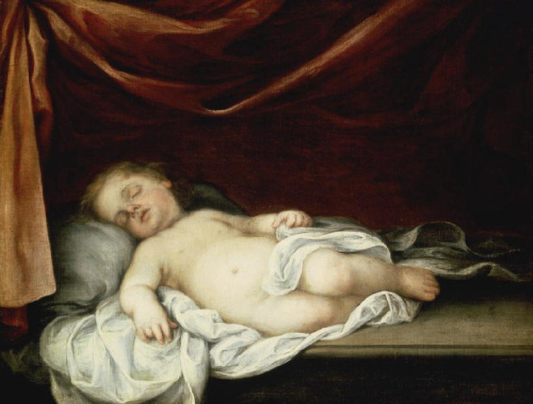 The Christ Child Asleep Oil Painting