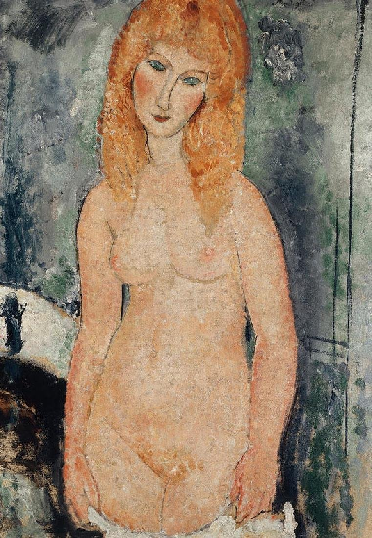 Nude Standing Oil Painting