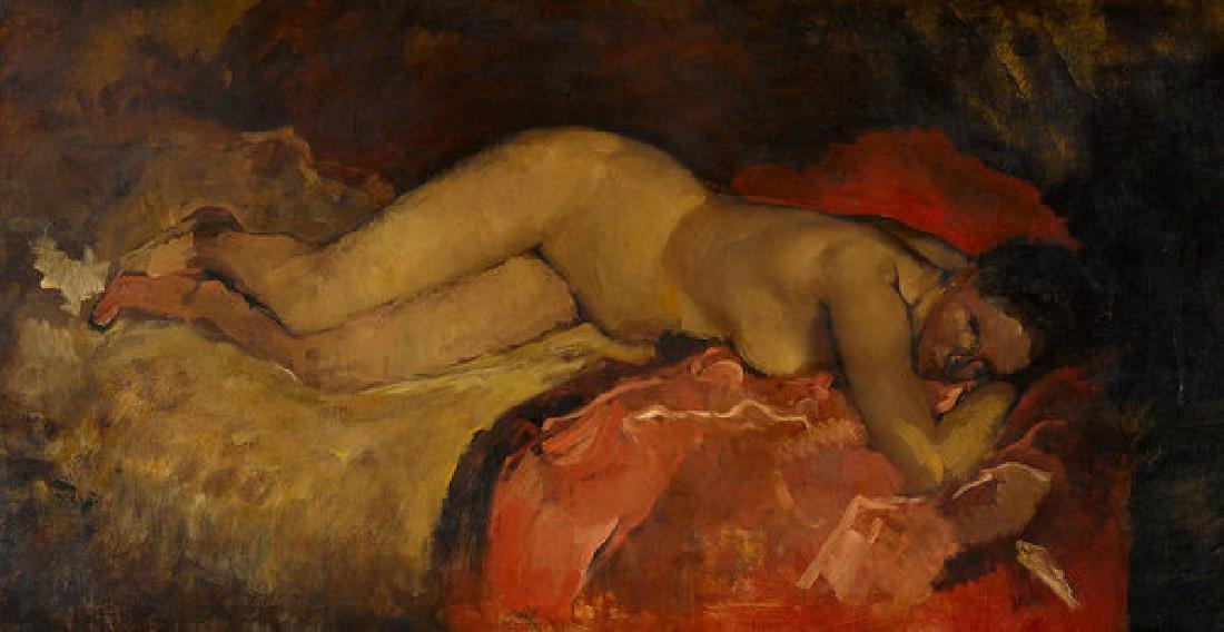 Reclining Nude Oil Painting