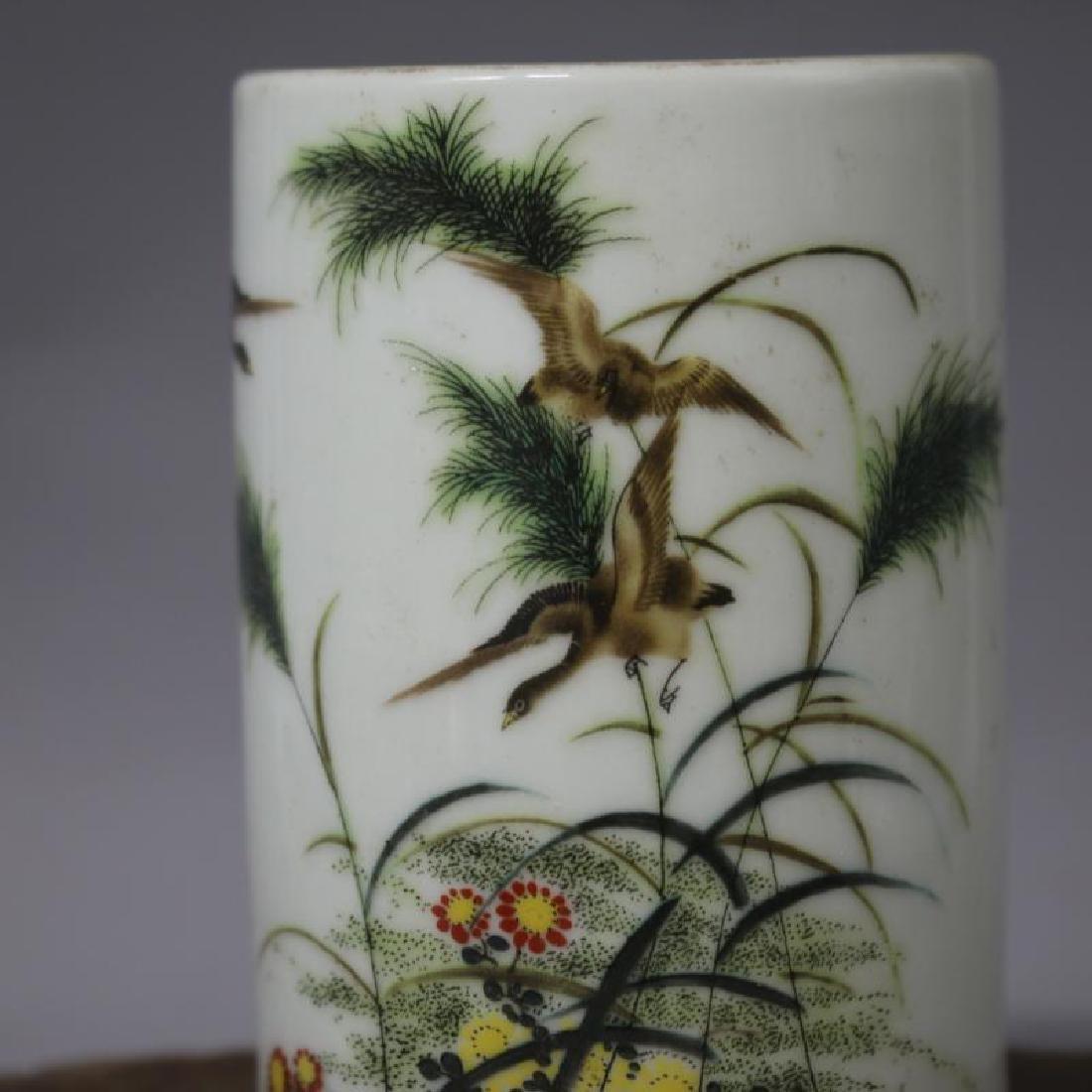 Chinese Republic Of China Famille-Rose Porcelain Brush - 2