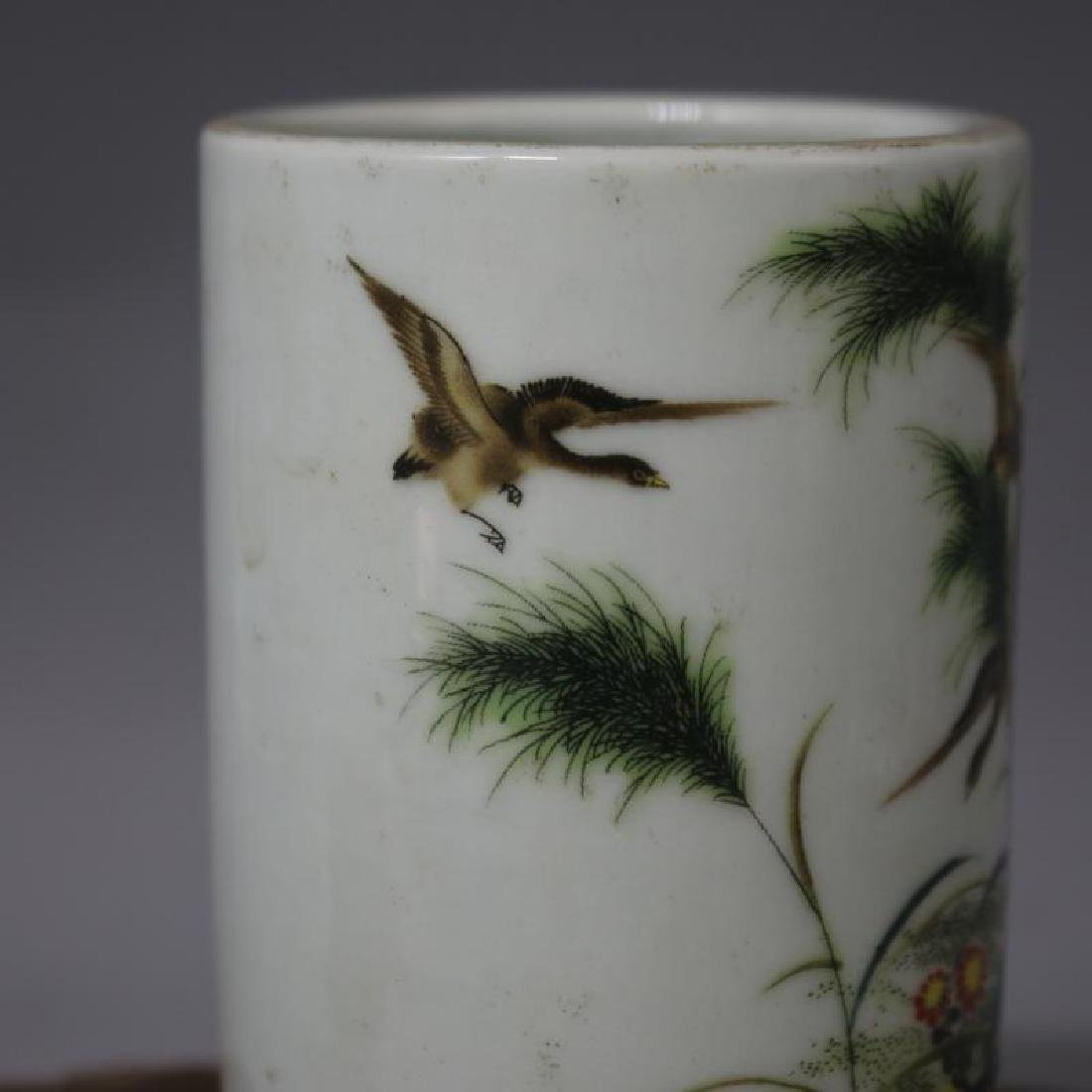 Chinese Republic Of China Famille-Rose Porcelain Brush - 4