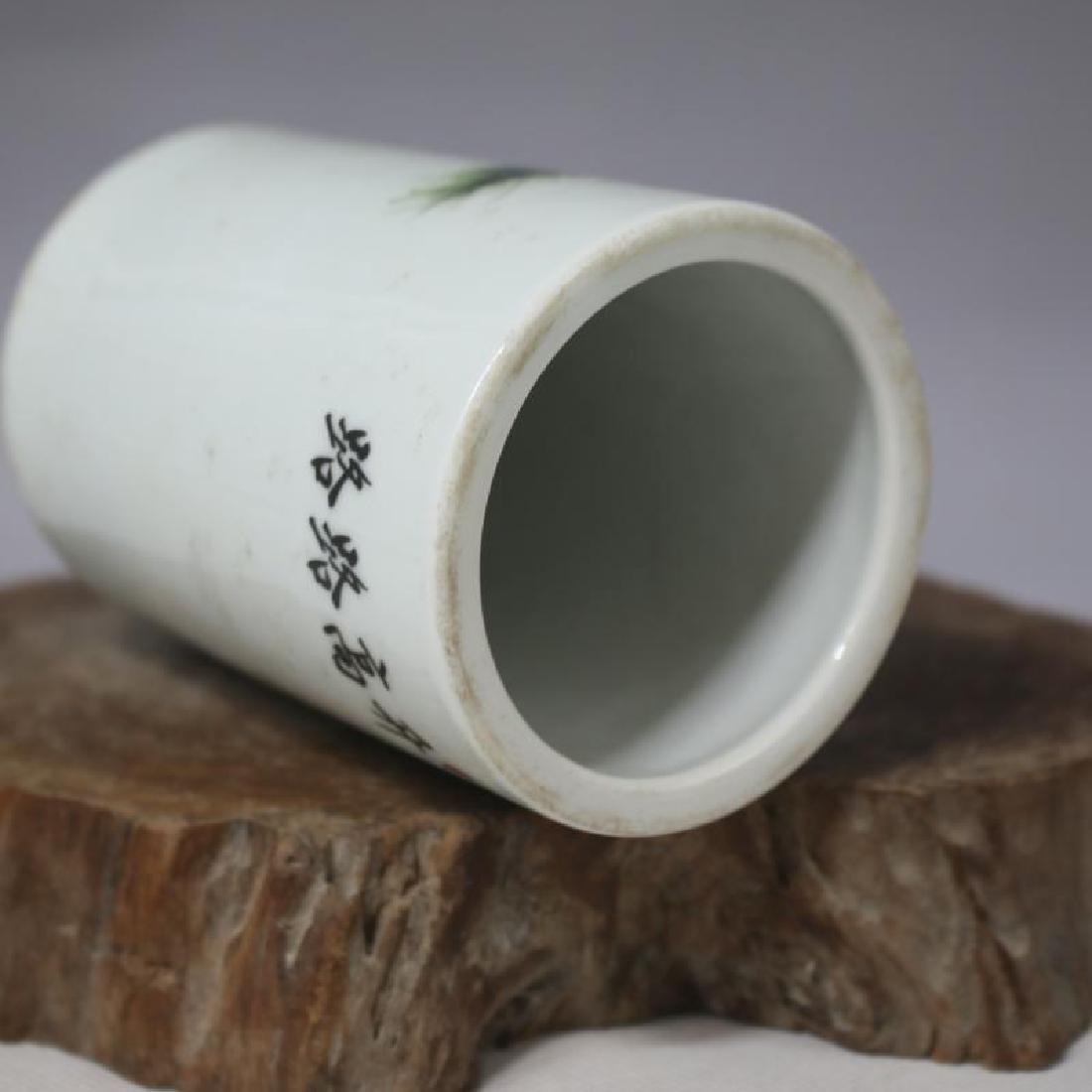 Chinese Republic Of China Famille-Rose Porcelain Brush - 5