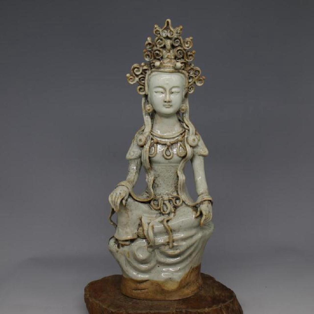 Chinese Yuan Dynasty Shufu Ware White Glaze Porcelain
