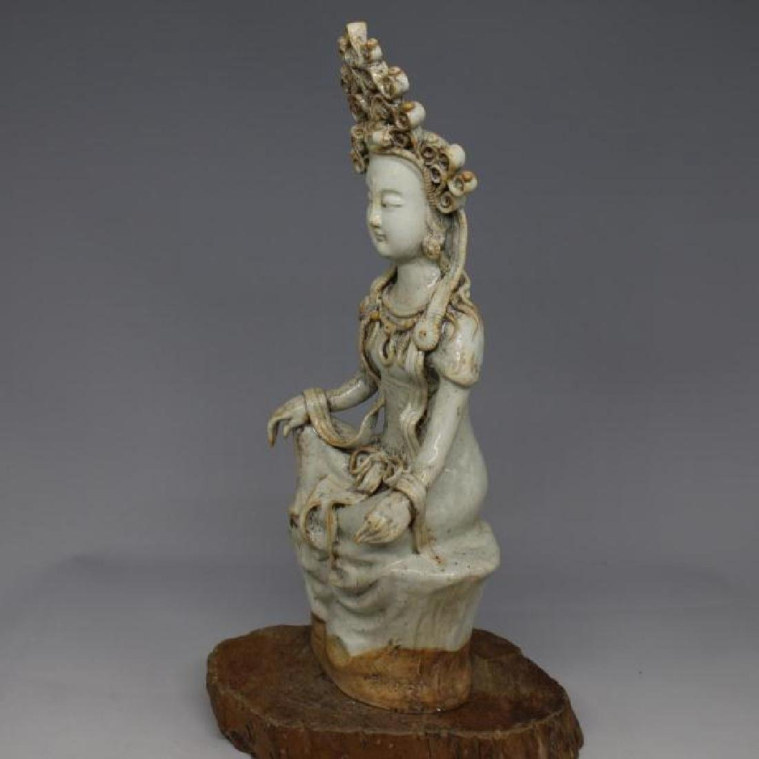Chinese Yuan Dynasty Shufu Ware White Glaze Porcelain - 2