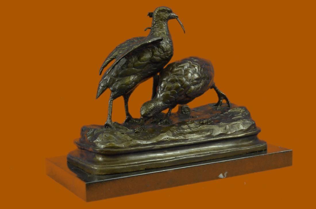 Bronze Sculpture Anniversary Birthday Gift 2 Dove Doves