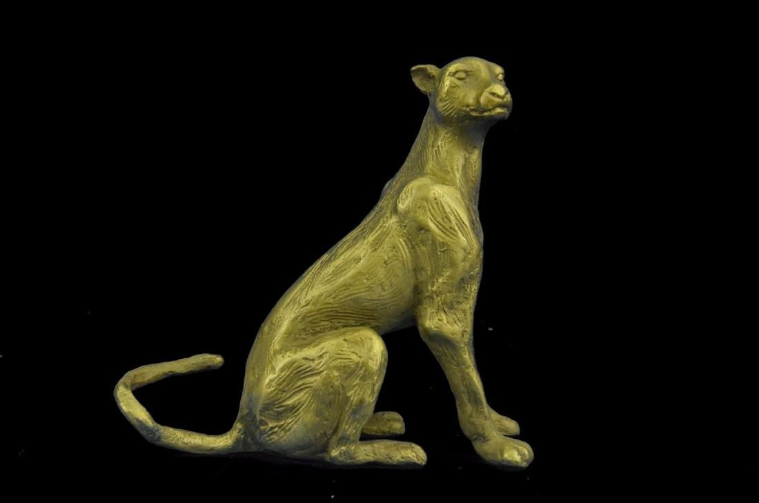 Sculpture Statue Gilt Vienna Cougar Mountain Lion