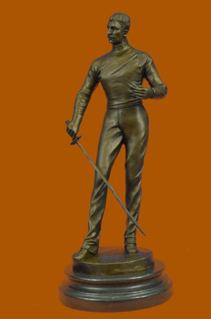 Rare Collectible Art Deco Hot Cast Fencer W/Sword