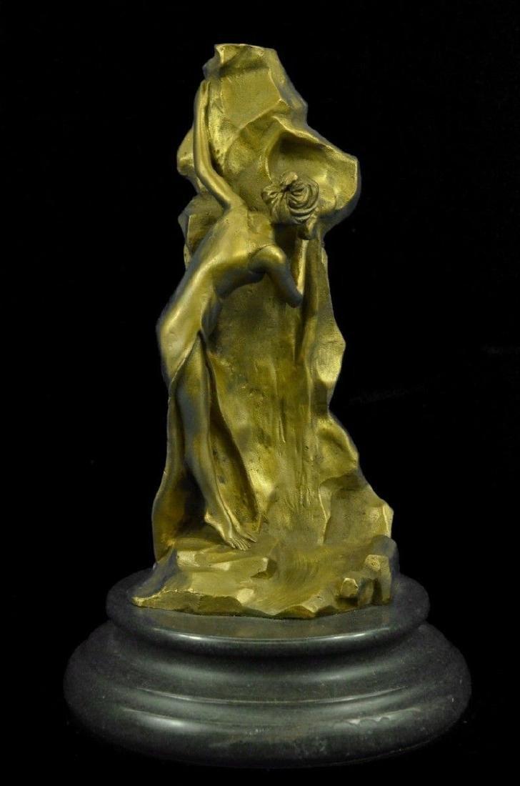 Sculpture Statue Peekaboo High Cast Polished Sexy Girl