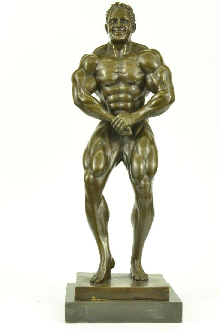 Flexing Muscle Man Body Builder Mr. Universe Statue