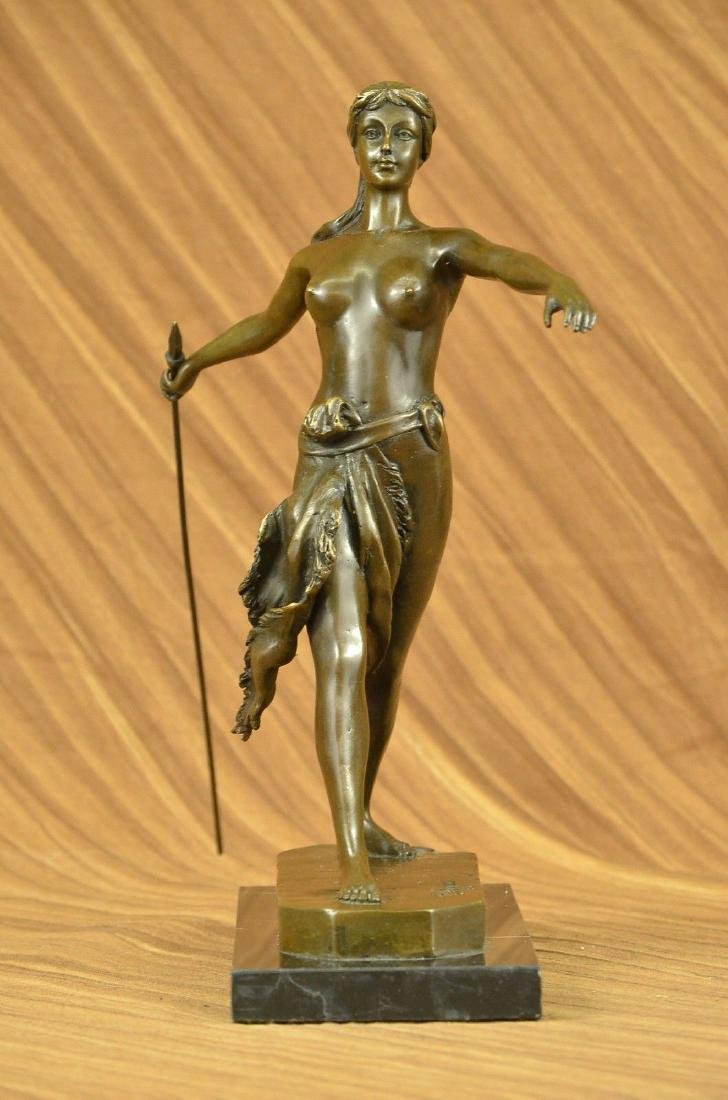 "Fine Original Bronze Sculpture Statue Diana ""goddess of"