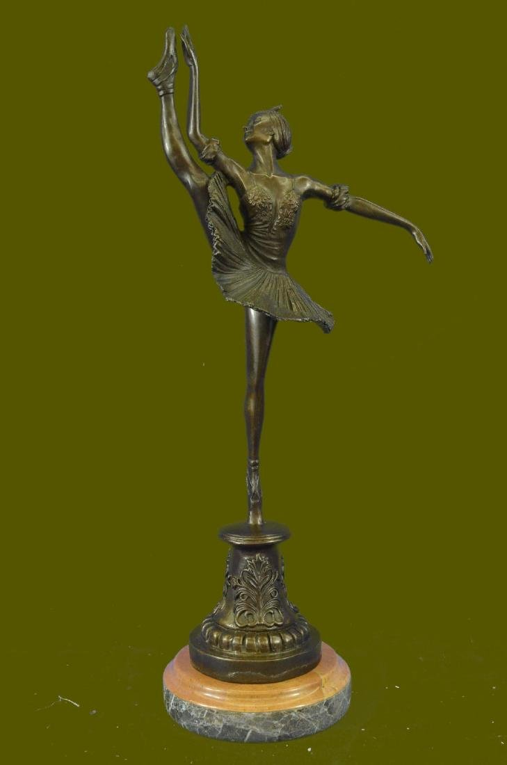 Art Nouveau Home Decor Bronze Tutu Ballerina Sculpture