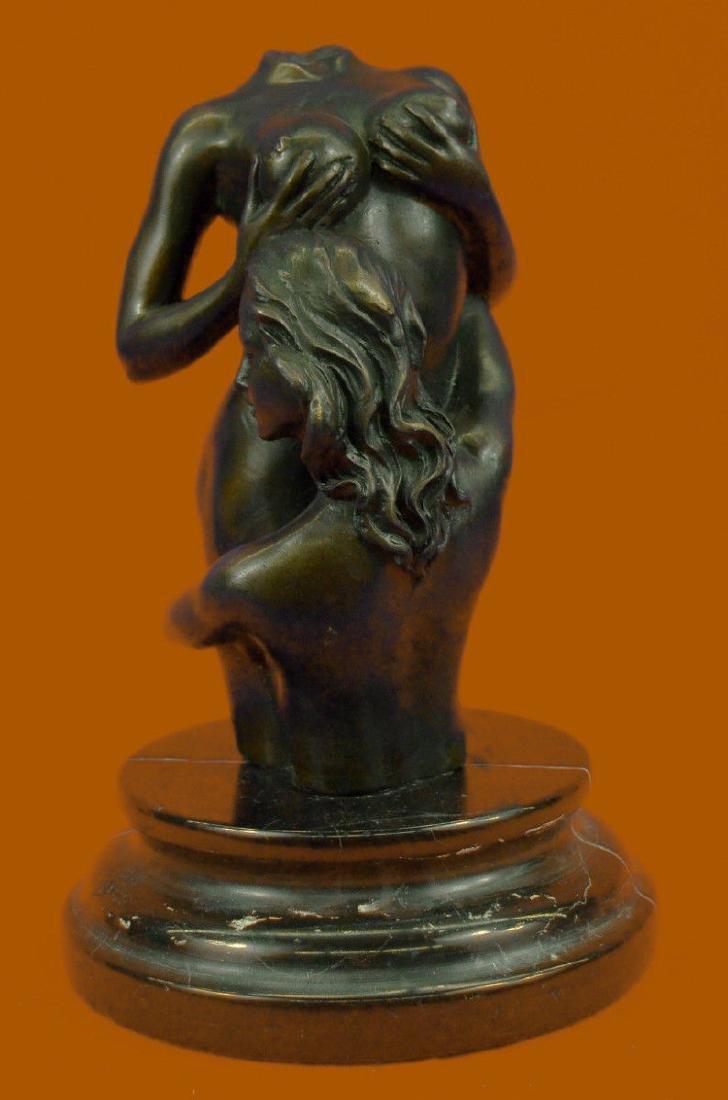 Hand Made Modern Art Two Nude Female Bronze Sculpture
