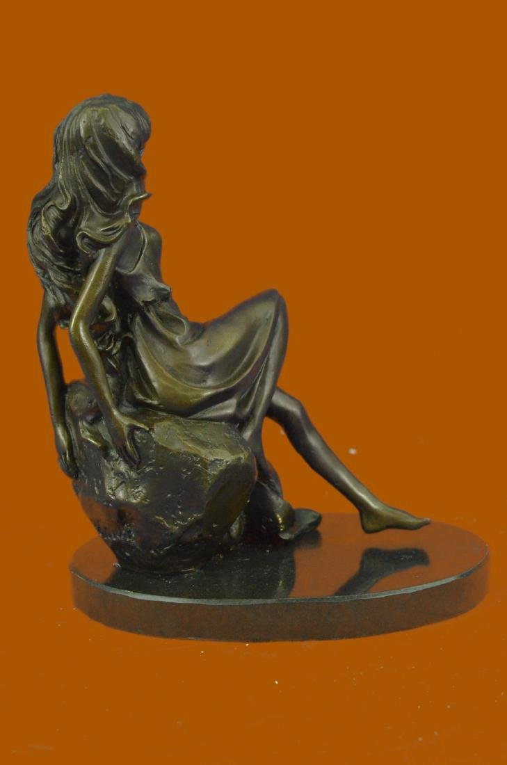 Bronze Sculpture Hand Made Original Mavchi Relaxed