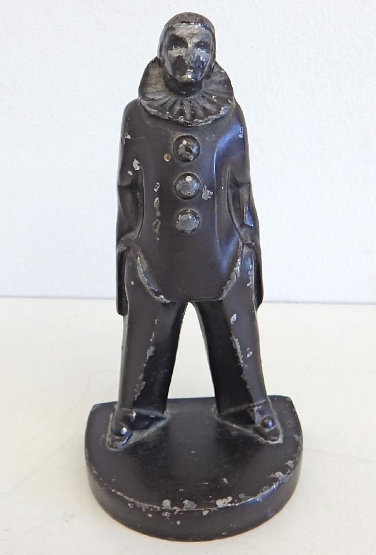 Vintage Art Deco Clown Jester Sculpture Figure