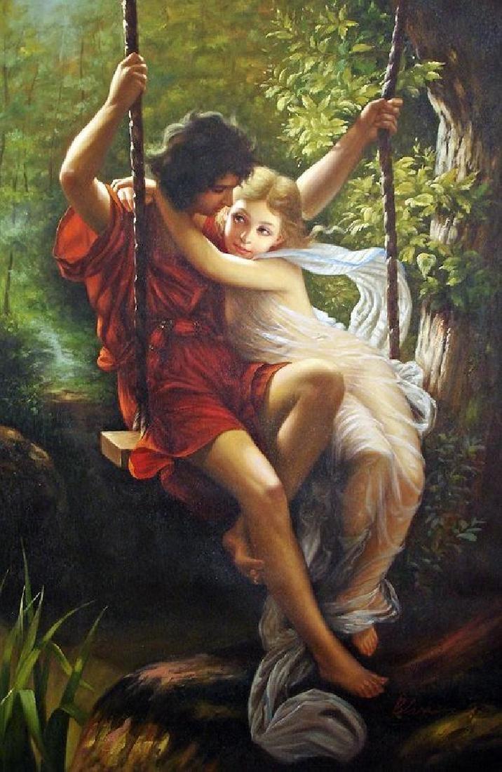 Springtime Oil Painting on Canvas