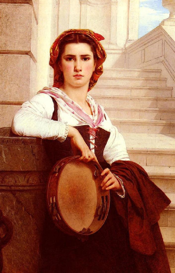 Cot Pierre Auguste La Bohemienne Oil Painting on Canvas