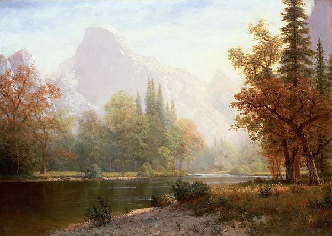 Half Dome Yosemite Oil Painting on Canvas