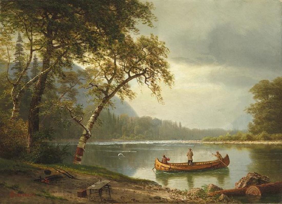 Salmon Fishing On The Caspapediac River Oil Painting on