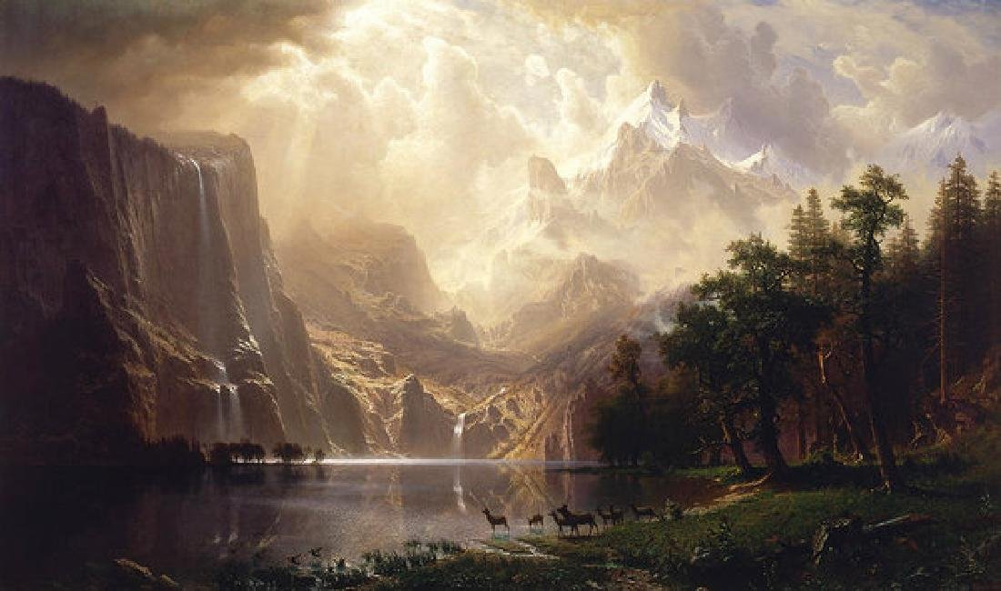 Among The Sierra Nevada Oil Painting on Canvas