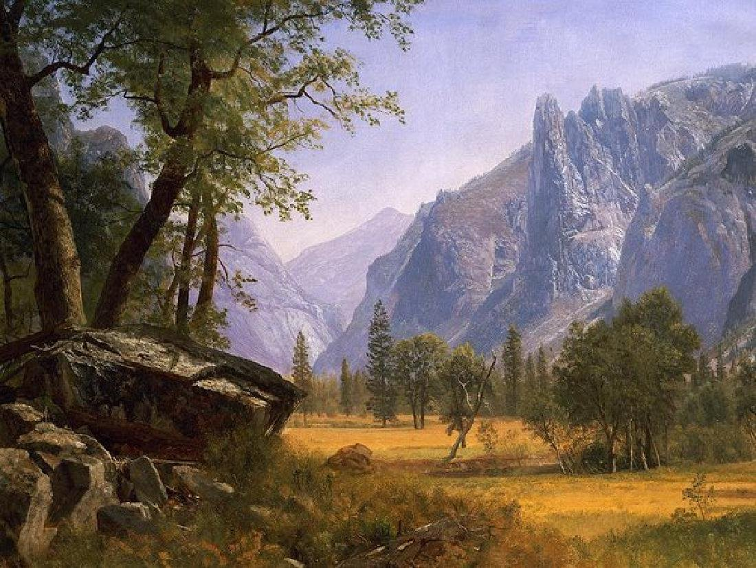 Yosemite Valley Oil Painting on Canvas