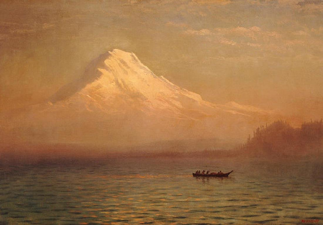 Sunrise On Mount Tacoma Oil Painting on Canvas
