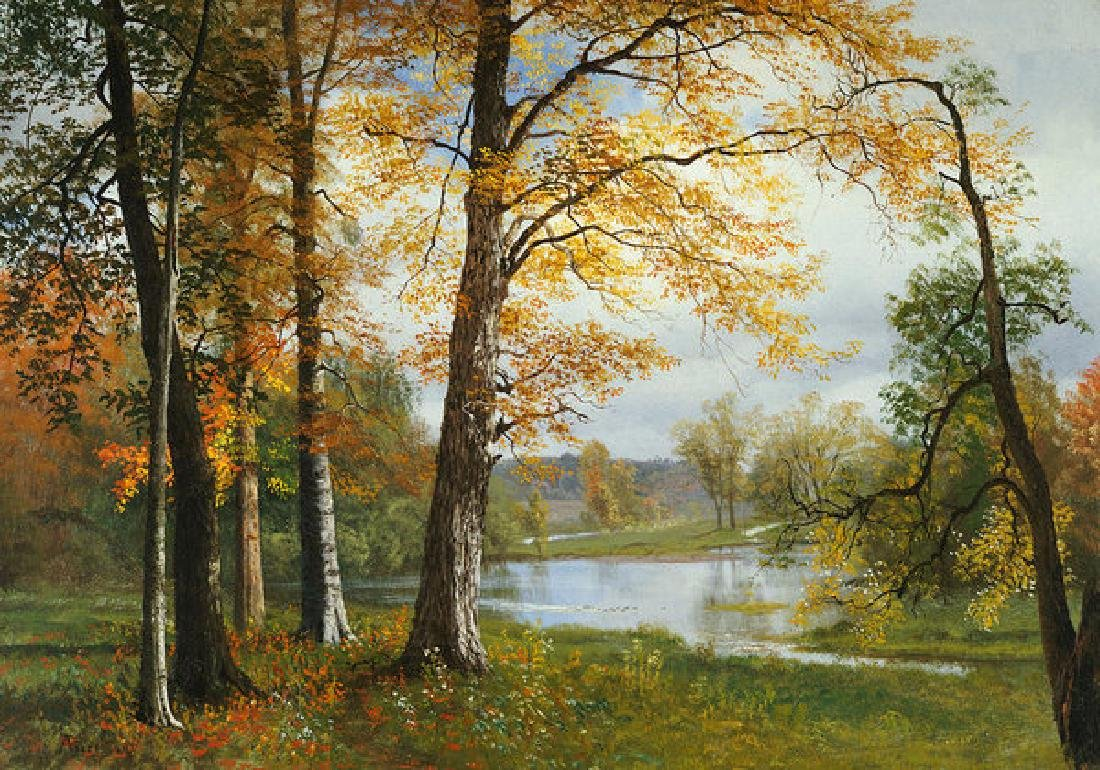 A Quiet Lake Oil Painting on Canvas