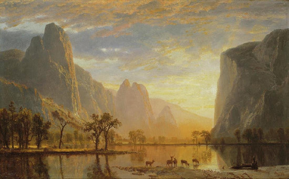 Valley Of The Yosemite Oil Painting on Canvas