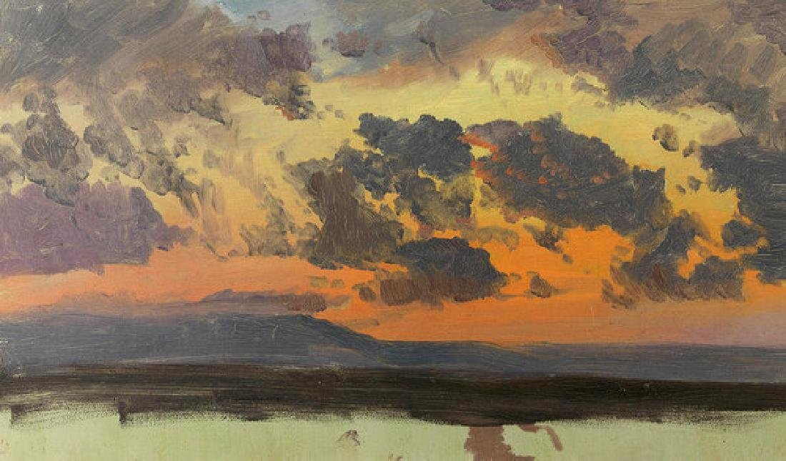 Sky At Sunset Jamaica West Indies Oil Painting on
