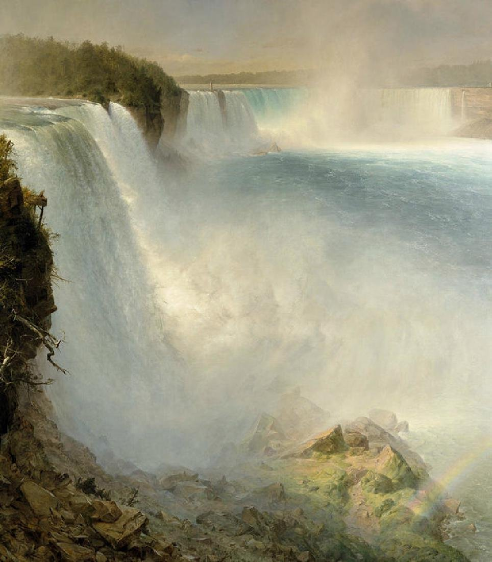 Niagara Falls From The American Side Oil Painting on