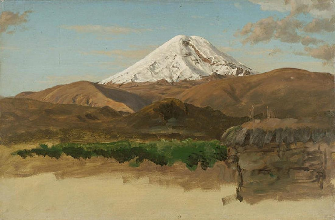 Study Of Mount Chimborazo Ecuador Oil Painting on